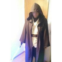 Star Wars Combo Traje Jedi Completo + Sable Obi Wan Adultos