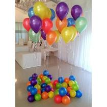 Globos Helio X 30 Unidades Primera Calidad Colores Globo Fun
