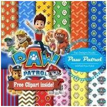 Kits Fondos Papeles Diseños Digital Paw Patrol