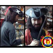 Sombrero Piratas Caribe Gorro Capitan Jack Sparrow, Pirata