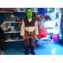 Disfraz De Shrek Shreck Careta O Vincha Niños De 3 A 5 Años