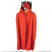 Disfraz Capa Roja Talle Mediano Niño Diablo Diabla