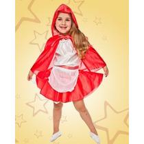 Disfraz De Caperucita Roja Para Niñas Talles Del 2 Al 12