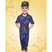 Disfraz De Policia Niño Talles Del 2 Al 12