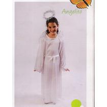 Disfraz De Angel Tunica Con Alas Y Aureola