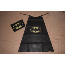 Capa / Disfraz Infantil De Friselina Superhéroe- Batman.