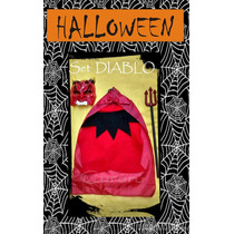 Set Disfraz Halloween Diablo Mascara Cetro Capa Fiesta