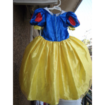 Vestido Disfraz Nena Princesa Blancanieves Disney Import 4-6