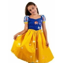 Disfraz Fashion Con Brillos Blancanieves Princesa Original