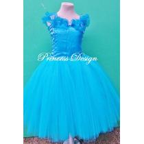 Disfraz Vestido Princesa Cenicienta Tutu Cinderella Pelicula