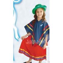 Disfraz Coya Infantil Incluye Sombrero