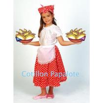 Disfraz Patrio Vendedora Ambulante Empanadas Candombera Acto