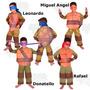 Disfraz Niños Tortugas Ninjas / Open-toys 64