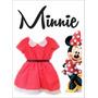 Minnie Mouse Disfraz + Vincha Con Moño Disfraces Inf. Frozen