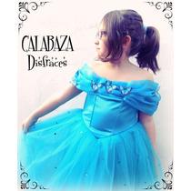 Vestido Disfraz Nueva Cenicienta Disney 2015