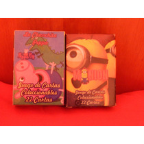 Souvenirs X 10 De Minions O Peppa Pig Cartas Coleccionables