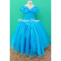Disfraz Vestido Princesa Cenicienta Pelicula Cinderella 2015