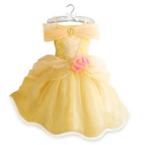 Disfraz Vestido Princesa Bella Disney Store Original Usa