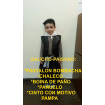 Disfraz Gaucho Caballero Dama Antigua Paisana Negrita Coya