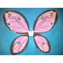 Alas De Mariposa De Tul Grandes Nuevas 55x45 Cm Rosa