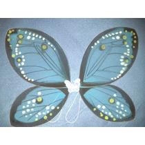 Alas De Mariposa De Tul Grandes Nuevas 55x45 Cm Azul
