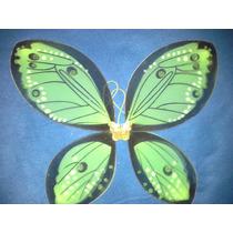 Alas De Mariposa De Tul Grandes Nuevas 55x45 Cm Verde