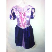 Vestido De Rapunzel * Confeccionado En Raso !!