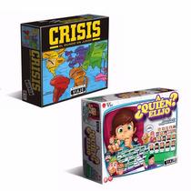 Promo Juegos De Mesa Crisis + A Quien Elijo Quality Toys