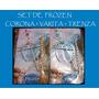 Frozen Anna Elsa Set Corona + Trenza + Varita Princesa