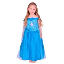 Disney Frozen Disfraz Elsa Para Nenas 3 Talles Original