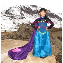 Disfraz Coronación Frozen Reina Elsa Disney Vestido Con Capa