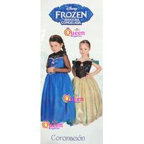 Disfraz Anna Frozen Vestido De Coronacion Novedad!! Original