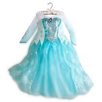Vestido Princesa Elsa Frozen Original Disney Store Eeuu