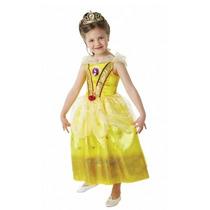Disfraz Princesa Bella Deluxe Importado Con Brillos Detalles