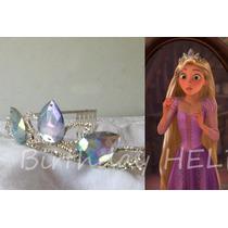 Corona Rapunzel Tiara Elsa Frozen De Metal Disfraz Princesa
