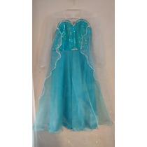 Vestido De Anna Y Elsa Frozen Con Descuento...