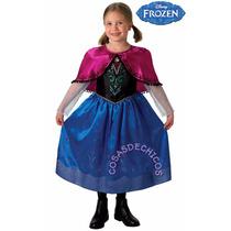 Disfraz Frozen Anna Elsa Vestido Importado Original Disney