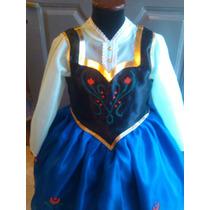 Disfraz Vestido Princesa Anna Frozen Con Enagua
