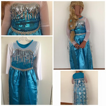 Disfraz Frozen Elsa Raso/lentejuelas/tul/capa Incorporada