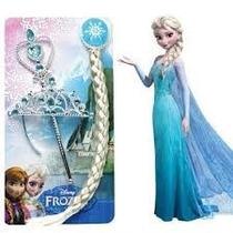Frozen Set X 3 Accesorios Disfraz Elsa Trenza, Tiara, Cetro