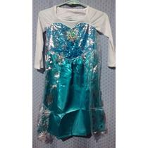 Disfraz Frozen Vestido Elsa Y Anna + Accesorios Combo Import