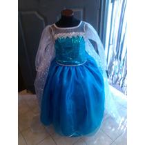 Vestido Elsa Frozen Con Enagua