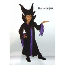 Disfraz Malefica Hada Negra Con Sombrero Halloween