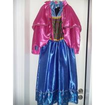 Disfraz Anna Frozen Disney Talle 7/8 Excelente Confección