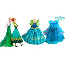 Disfraz Anna Y Elsa Frozen Fever-disney Store Original!