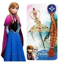 Frozen Set X 3 Accesorios Disfraz Anna Trenza, Tiara, Cetro