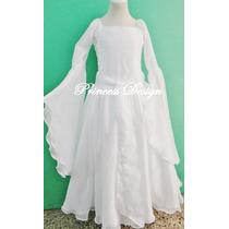 Disfraz Vestido De Princesa Medieval Hada Madrina Galadriel