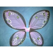 Alas De Hadas Mariposa De Tul Colores Nuevos 55x45cm Violeta