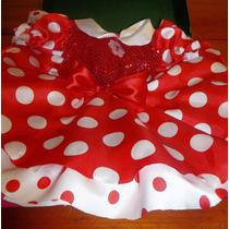 Dulce Minnie Roja, Vest,orejitas Cubzapa Disfraz De Ensueño