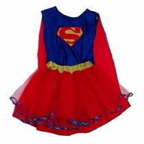 Disfraz Super Girl Superchica Artesanal Talle 6 Años